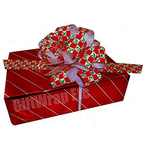 Metallic Red & Green Checkered Mistletoe Christmas Gift P...