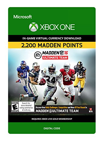 Madden NFL 16: 2200 Points - Xbox One Digital Code by Electronic Arts