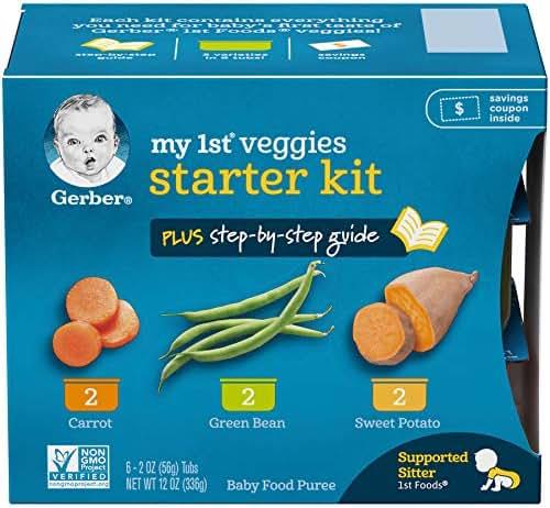 Gerber Purees My 1st Vegetables- 12 Oz , Pack of 2