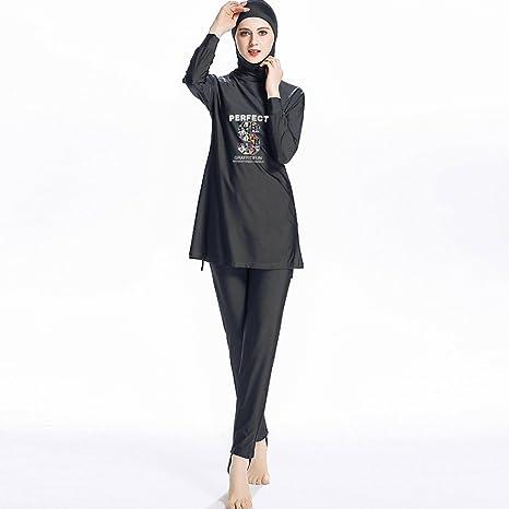 Da Donna Islamica Musulmana copertura completa Costume modesto Costumi Da Bagno Nuoto Burkini Fiore