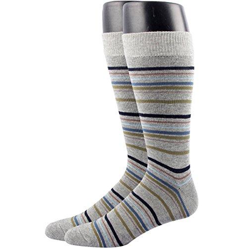 RioRiva Men's Dress Socks Mid Calf Crew Tube Socks for Business Grey Black Navy,MSK44 - Pack of 2,One (Marilyn Monroe Fancy Dress Size 8)