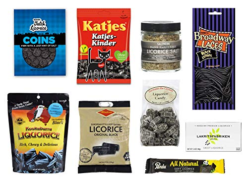 Black Licorice Variety Gift Box (9 items) (Licorice Gift)
