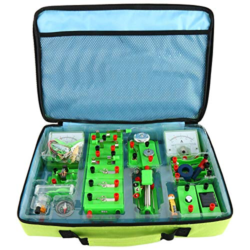 YaeCCC Physics Science Lab Basic Circuit Learning Kit Electricity and Magnetism Experiment Kits for Kids Junior Senior High School Students Elementary Electronics