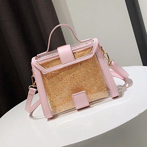 Bag Bandoulière Rose nbsp; Transparent Décontracté Messenger Sac nbsp; Meaeo nbsp;Simple Ceinture Pink À 4Axf1wnqY