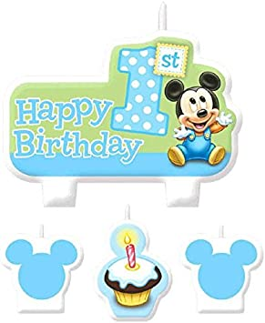 Incredible American Greetings Mickey Mouse 1St Birthday Candles 4 Count By Funny Birthday Cards Online Alyptdamsfinfo