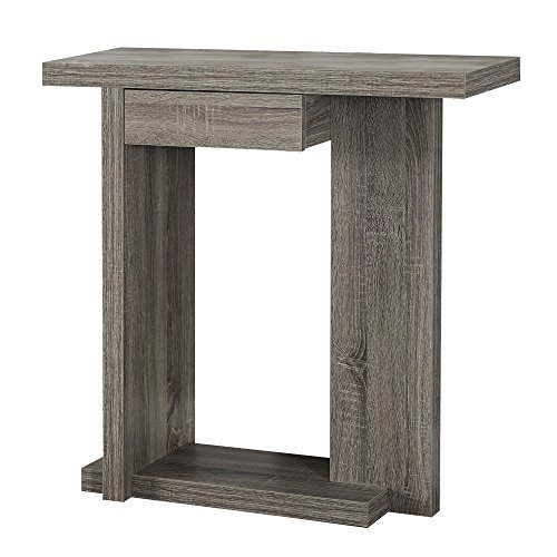 Monarch Specialties I 2459 Hall Console Accent Table, 32 , Dark Taupe