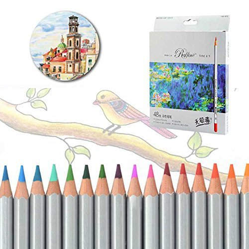 - Marco Raffine 48-Color Fine Art Colored Pencils/Drawing Pencils for Sketch/Secret Garden Coloring Book