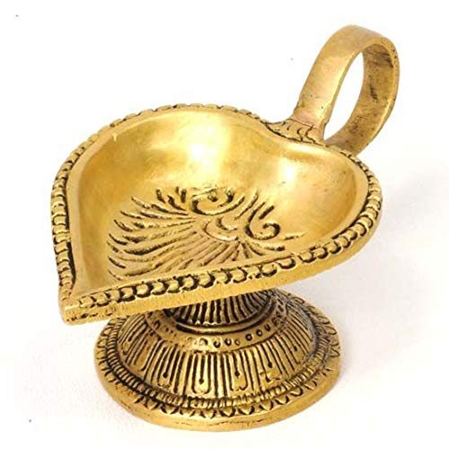 Song of India Brass Oil Lamp