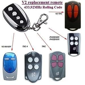 V2 TXC2, TXC4, HANDY2, HANDY4 universal transmisor de repuesto mando a distancia, 433.92Mhz rolling code keyfob