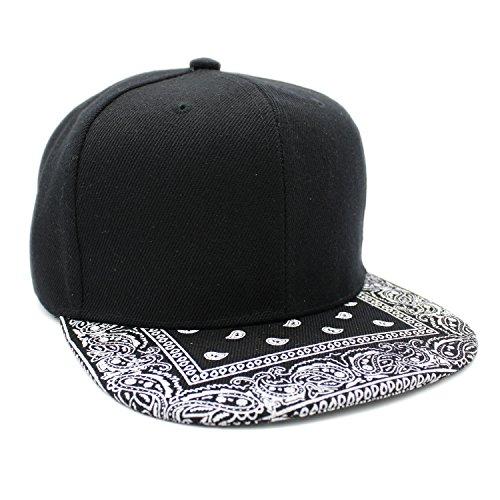 LAFSQ Plain Blank Solid Color Flat Bill Adjustable Snapback Cap Hat