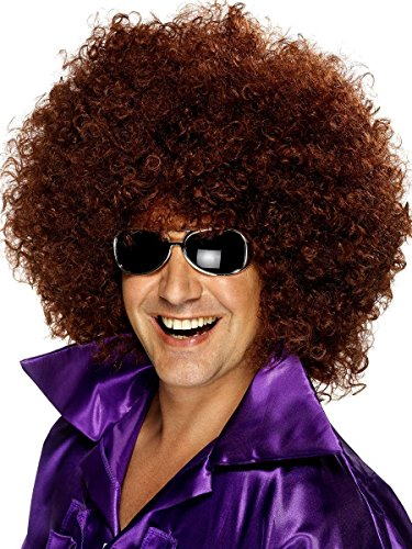 Afro Wig - Disco Afro Wig - #1 Quality 60s 70s Afro Wig (Brown) -