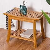 Bamboo Shower Seat Bench Bathr