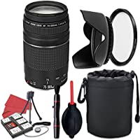 Canon EF 75-300mm f/4-5.6 III Lens + Accessory Bundle