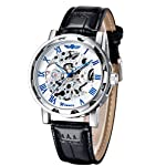Gute Classic Steampunk Bling Automatic Mechanical Wristwatch See Through Skeleton Automatic Unisex Watch 7
