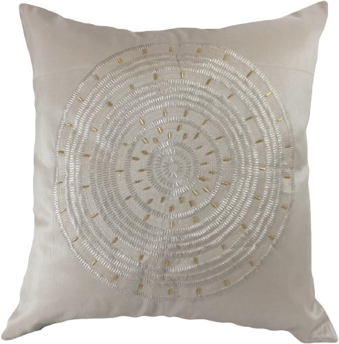 Decorative Emboirdery & Beads Floral Throw Pillow Cover 18