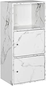 Convenience Concepts Xtra Storage 2 Door Cabinet, White Marble