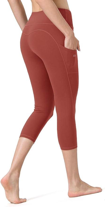 舒适透气,带侧口袋的瑜伽裤运动起来更轻盈更方便,身材更完美