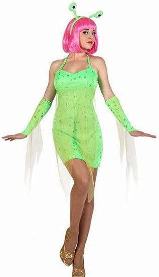 Atosa-22987 Disfraz Alien, color verde, M-l (22987)
