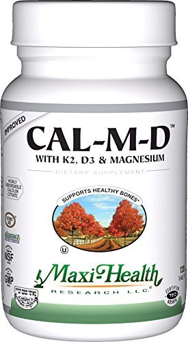 - Maxi Health Cal-M-D - Calcium Citrate - with Vitamins K2, D3 and Magnesium , 120 Tablets , Kosher by Maxi