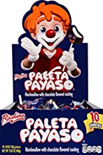 RICOLINO Paleta Payaso - Chocolate Coated Marshmallow Lollipop with Gummies - Party Pack Of 10 Lollipops, 1.6 Oz Each, 10Count (Pack Of 12)