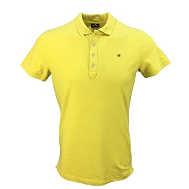 Diesel - Polo - para Hombre Amarillo Amarillo Medium: Amazon.es ...