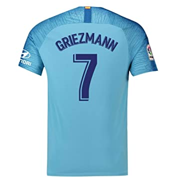 2018-19 Atletico Madrid Away Football Soccer T-Shirt Camiseta (Antoine Griezmann 7): Amazon.es: Deportes y aire libre