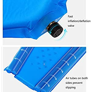 Forall-Ms Self Inflating Camping Mat,Sleeping Pad Lightweight Camp Mat Inflatable Roll Up Foam Bed Tent Bed for Camping Sleeping Bag,Orange