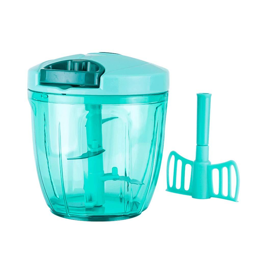 Manual food processor chopper mixer slicer safe free durable kitchen home fruit and vegetable blender mixer,Blue