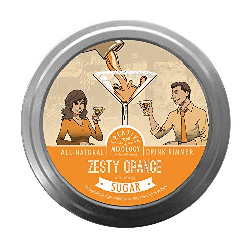 The Spice Lab All Natural Zesty Orange Sugar Cocktail Glass Rimmers for Martinis & Margaritas - 3 Pack - Gluten Free Non-GMO No MSG Brand]()