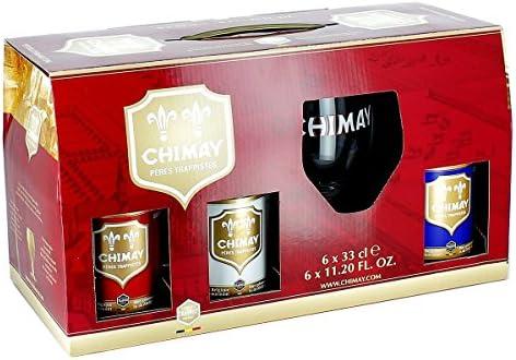Brasserie De Chimay - Estuche Chimay Trilogy 6 * 33 + 1 Vaso: Amazon.es: Alimentación y bebidas