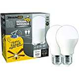 MiracleLED 604716 Miracle LED Energy Saver Bulb, 2-Pack, Rough Service Garage Door Light (2 Pack), 2 Piece