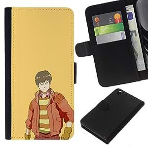 LECELL--Cuero de la tarjeta la carpeta del tirón Smartphone Slots Protección Holder For HTC DESIRE 816 -- Páramos --