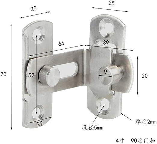 2 pequeñas hebillas del pestillo de la puerta de ángulo recto de 90 grados pestillos curvados pestillos de la palanca de bloqueo deslizante para puertas y ventanas: Amazon.es: Bricolaje y herramientas