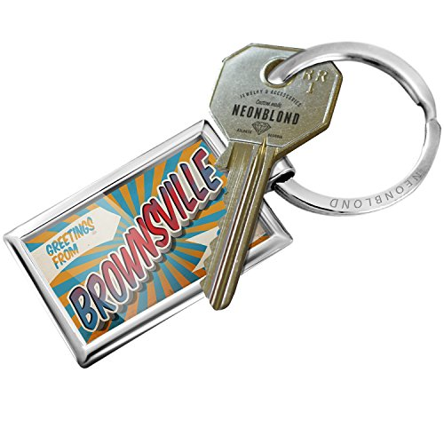 Brownsville Key (NEONBLOND Keychain Greetings from Brownsville, Vintage Postcard)