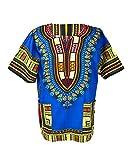 Lofbaz Traditional African Print Unisex Dashiki Size XXXXL Dark Blue