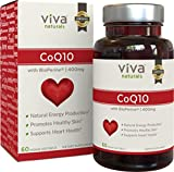 Viva Naturals CoQ10 400mg, 60 Vegetarian Softgels - Enhanced with BioPerine® for Increased Absorption
