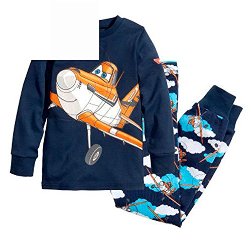 ODFAPP Adorable New Cartoon Kids Planes Pajamas Set Boys Long Sleeve Spring Autumn Sleepwear Clothing Baby Lovely Pyjamas Suit Children Costumes (Etsy Toddler Halloween Costumes Boy)