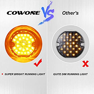 COWONE 2020 Newest 3 1/4 Inch Led Turn Signals Front 1157 Turn Signal LED Running Lights for Harley Motorcycle Road Glide Road King Softail Ultra Classic Ultra Limited Electra Glide: Automotive
