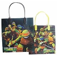 "Ninja Turtles Party Favor Goody Gift Bag - 8"" Medium Size (12 Bags)"