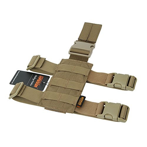 EXCELLENT ELITE SPANKER Tactical Drop Leg Holster Adjustable Drop Leg Platform Molle Module Universal Bag for Left/Right Leg(Coyote Brown)