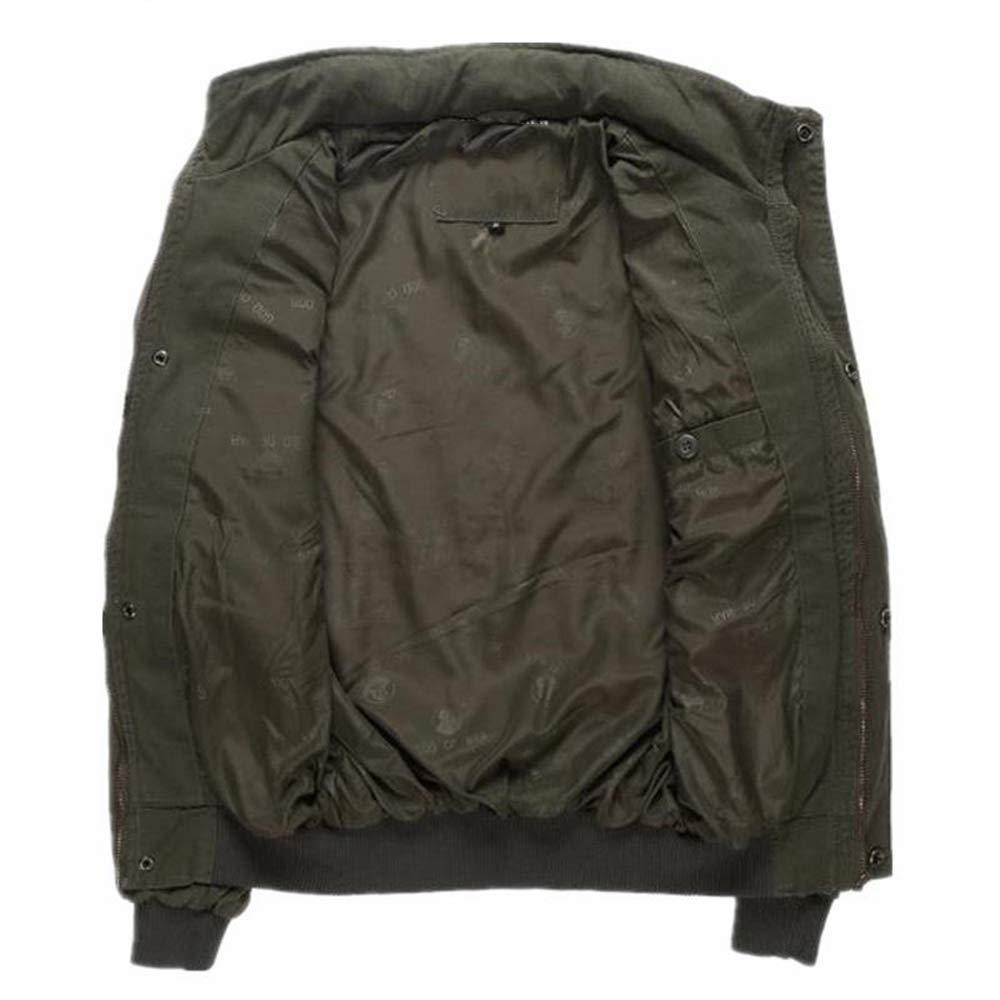 Viviwin Mens Army Pilot Jackets Multipocket Aeronautica Militare Bomber Jacket Men Removable Sleeve Tactical at Amazon Mens Clothing store: