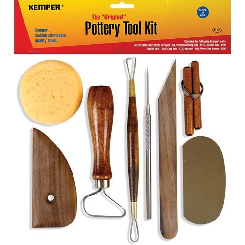 - Kemper Pottery Tool Kit: The Original 8-Piece Pottery Tool Set
