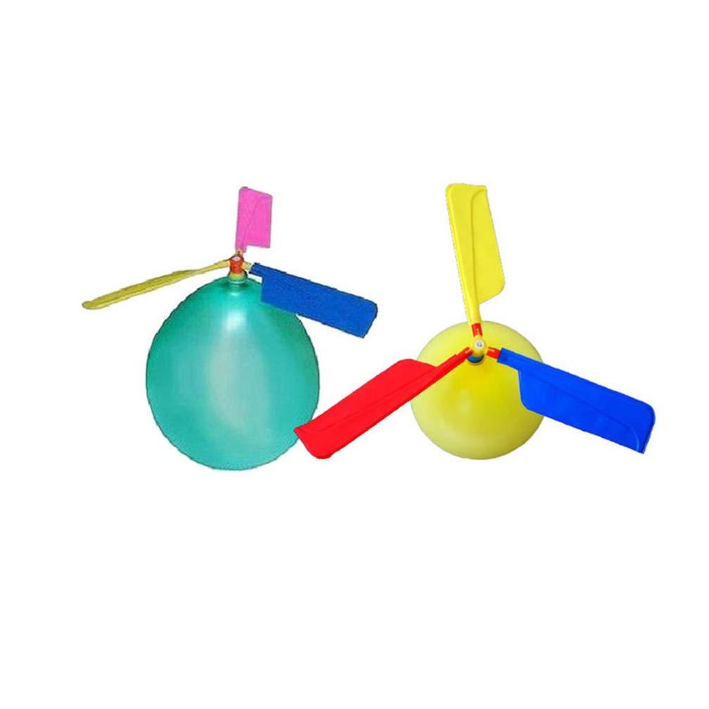 Colore Casuale NUOBESTY Bomboniere per Bambini 10pcs Palloncini elicotteri e Giochi di societ/à Favore della Festa di Compleanno