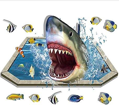 Piscina de tiburón suelo desmontable 3D pegatinas de pared Diy ...