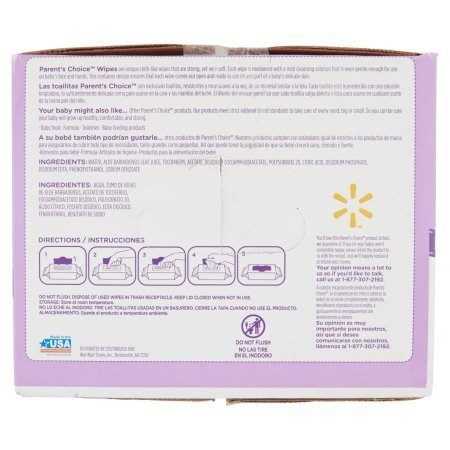 Amazon.com : Parents Choice Fragrance Free Baby Wipes | Contains Aloe and Vitamin E (800 sheets) : Baby