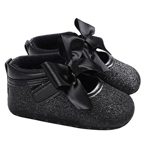 Baby schuhe,Sunyoyo Kleinkind neugeborene Baby-Kind-Kind-Mädchen-weiche Sohle Krippe Schuhe Schwarz