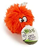 goDog Furballz Tough Plush Dog Toy with Chew Guard Technology, Orange, Small
