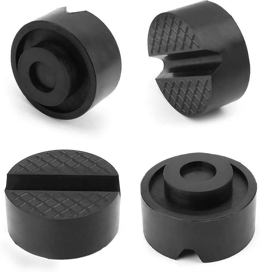 2 Pack Universal Slotted Rubber Jack Pad Frame 65mm//2.56 inch Diameter Jack Pad YIXISI Jack Rubber Pad Rail Protector