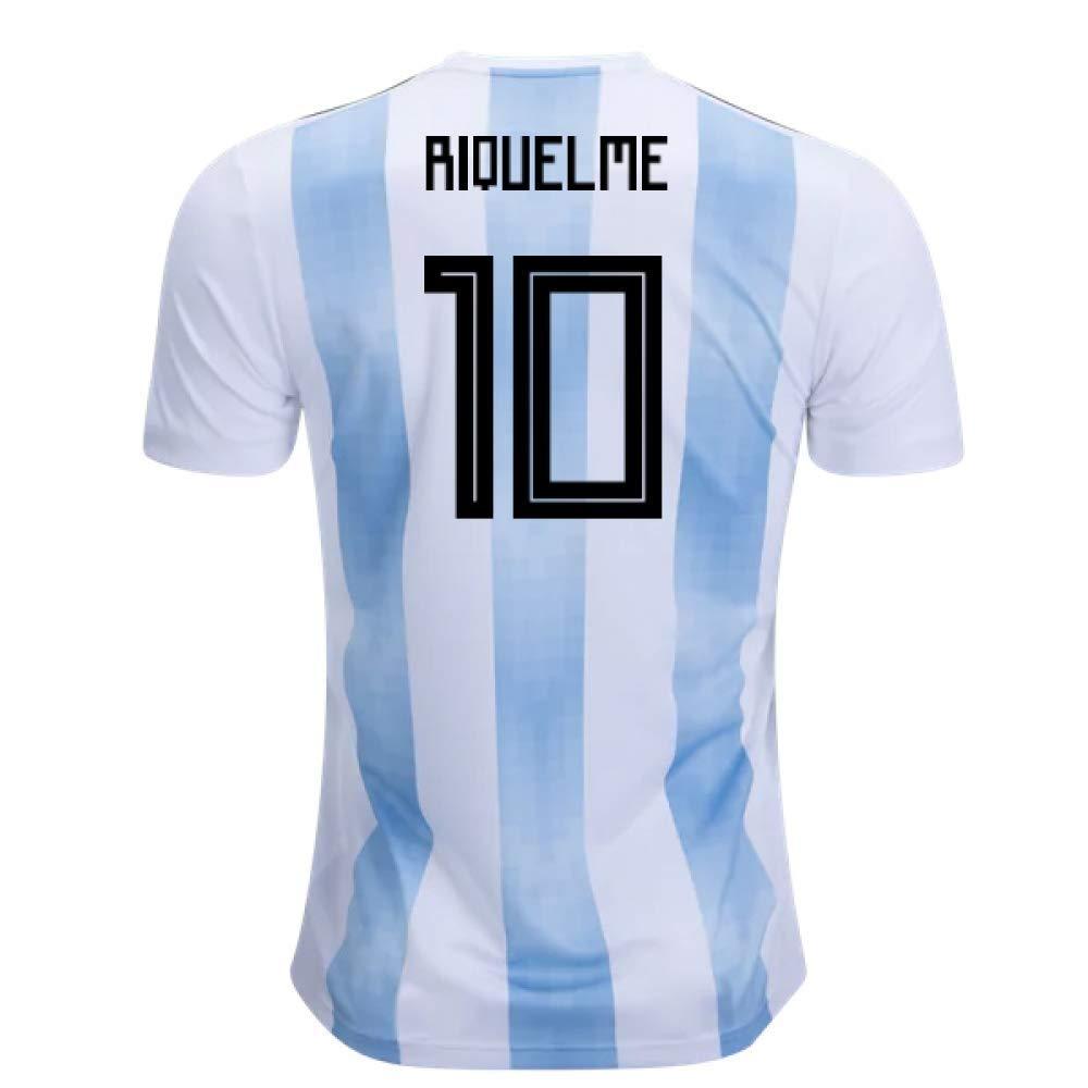 2018-19 Argentina Home Football Soccer T-Shirt Trikot (Juan Roman Riquelme 10) - Kids