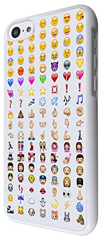 iphone 5C Cool Smiley Faces emoji Funky Design Fashion Trend Hülle Case Back Cover Metall und Kunststoff